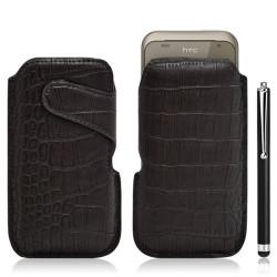 Housse coque étui pochette style croco pour HTC Rhyme G20 + Stylet