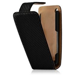 Housse coque étui gaufré pour Apple iphone 3G / 3GS couleur noir + Film protecteur