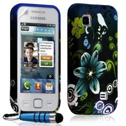 Housse coque étui en gel pour Samsung Wave 575 S5750 avec motif HF09 + Mini stylet