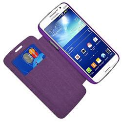 Etui à rabat latéral et porte-carte Violet pour Samsung Grand Duos (G7102) + Film de Protection