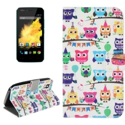 Etui de Protection Portefeuille Support Motif pour Wiko Sunset