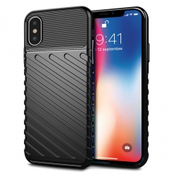 Coque Protection maximale Robuste Anti-chocs Rouge pour Apple iPhone X
