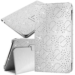 Housse Etui Universel Style Diamant Couleur Blanc pour Tablette Apple iPad Air 2 9,7""
